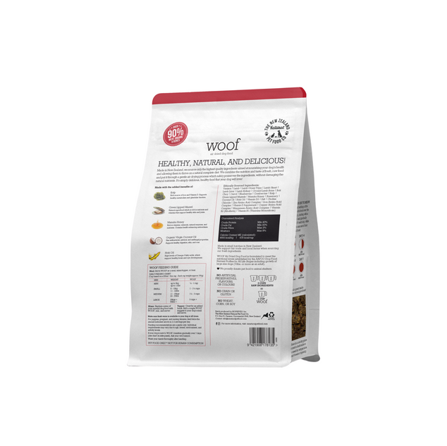 Woof Venison Air Dried Back 750g.png