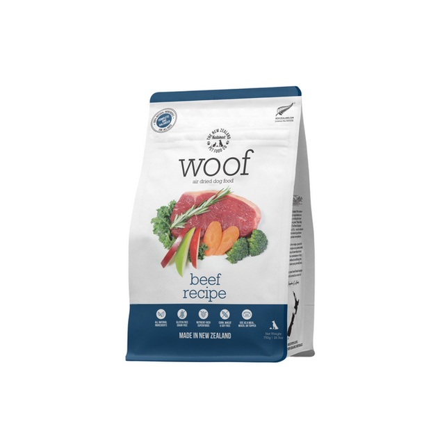 Woof Beef Air Dried Front 750g.png