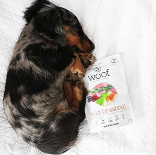 WOOF dog food