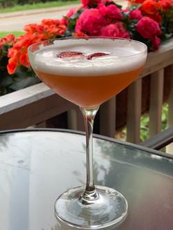 drink on porch