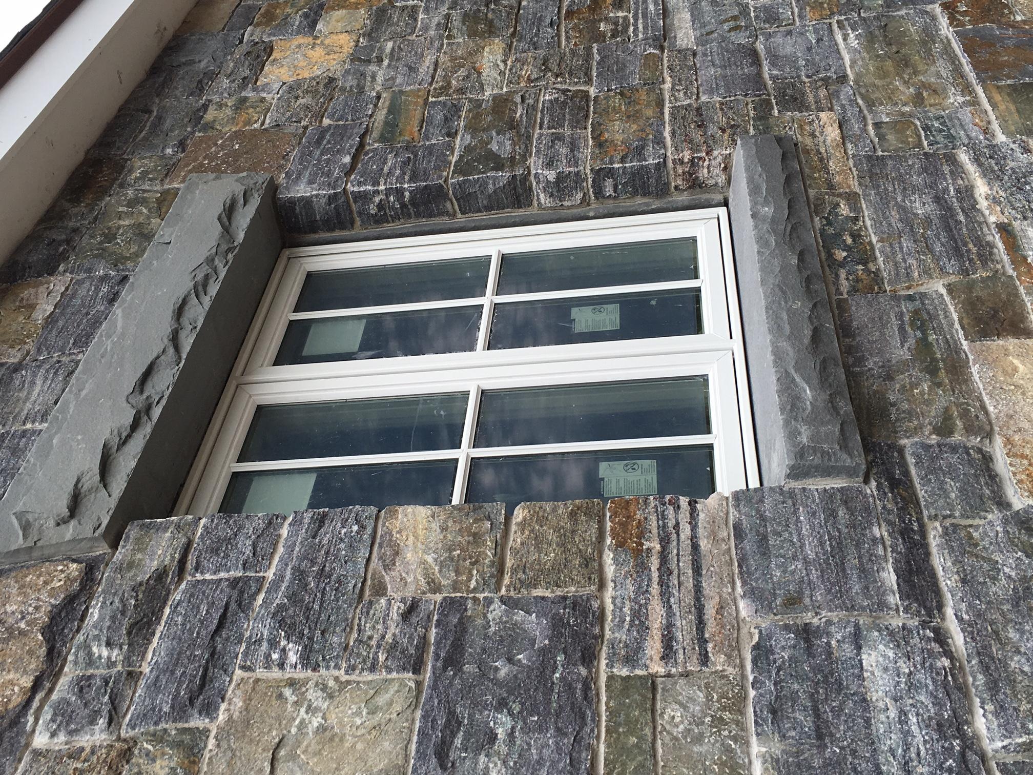 Custom stone window sills