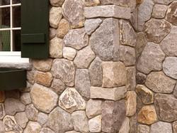 Stone veneer on home
