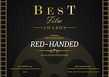 Alan David Pritchard Red-Handed Winner Best Script Award