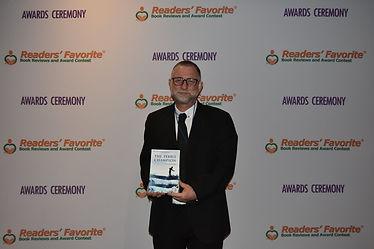 Alan David Pritchard The Pebble Chmapion Readers' Favorite International Book Award Ceremony 2019