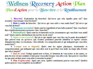 Plan d'urgence [WRAP, Addiction]