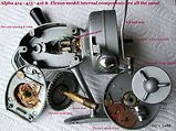 Alpha 414 vintage spinning fishing reel Gear housing specfications