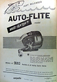 Auto Flite vintage fishing reel advertisement