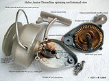 HALCO vintage spinning fishing reel internal specifications made in Australia