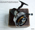 Early H .R. Bain  Eildon threadline casting  reel with original box -c.1946. Id U plate stamped Serial No. 5 .