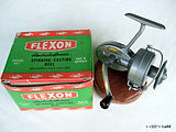 ALPHA FLEXON model No.3346 'Heavy model'  Silver type paint finish vintage fishing reel with box