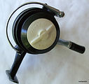 Spinall  vintage fishing reel Drag knob front view.
