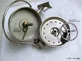 HALCO vintage fishing reel made in Australia, Rotor housing view