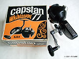 Capstan 77 threadline reel  Hi-speed model with later box.