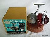 Alpha 404 vintage spinning fishing reel with box & paper work