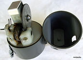 Spin-Master black Mk.11 vintage fishing reel exposed gear housing