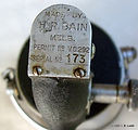 Eildon vintage spinning reel ID plate
