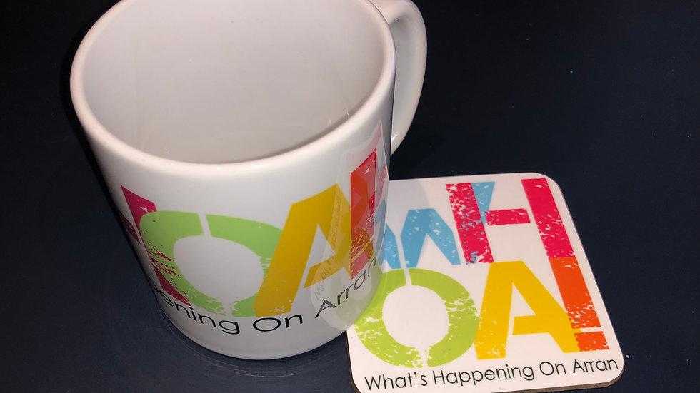 WHOA Mug & Coaster Set