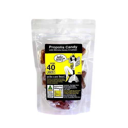 Propolis Candy with Manuka Honey and Lemon 40pcs