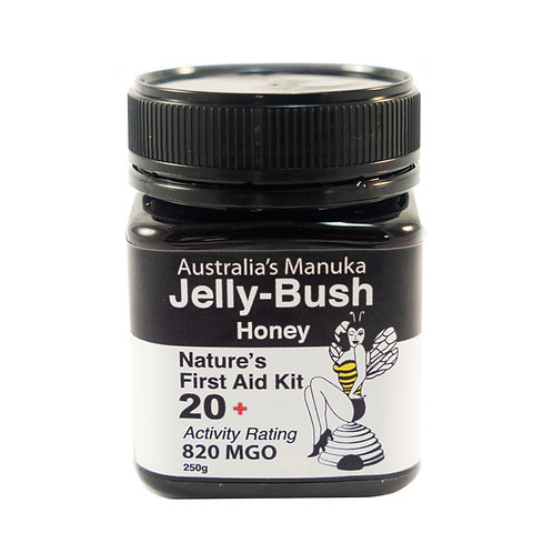Australian Active Jelly Bush Honey 20+ ULF / 820 MGO – 250g