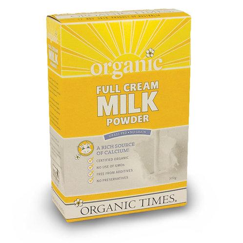 Organic Full Cream Milk Powder
