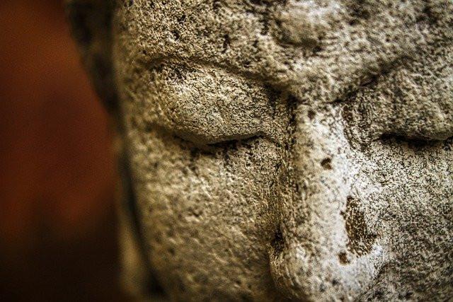 Buddha Gesicht Stein