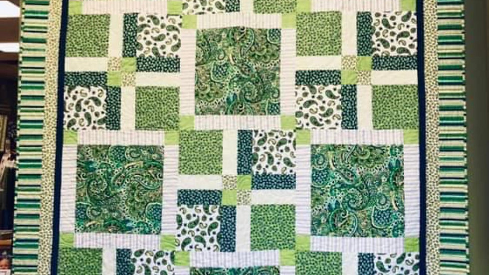 "Cypress Squares 65"" x 85"""