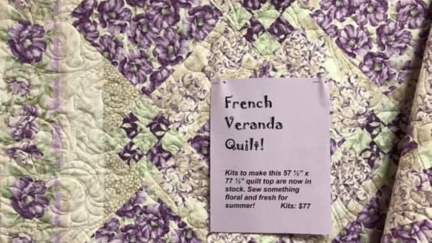 """French Veranda (57.5"""" x 77.5"""")"""