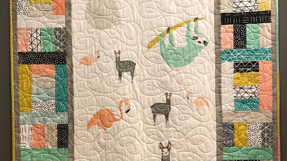 """Zoology Kids Quilt 44"""" x 63"""""""