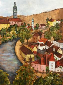 Village of Cesky Krumlov, Czech Repu