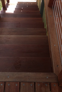 Stairs using Australian Jarah