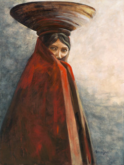 SOLD - Maricopa Indian Woman