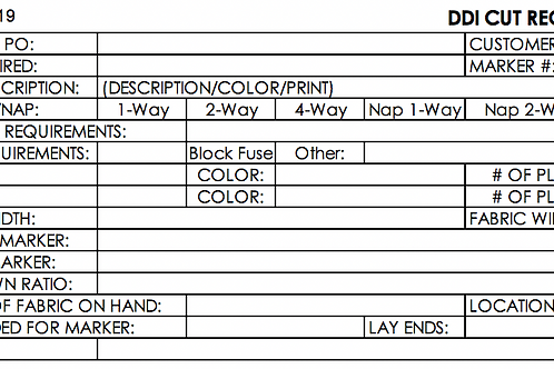 DDI Marker Making and Cut Order Template