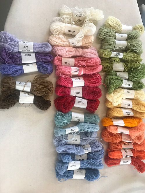 100%English Wool Crewel Thread