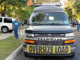 Lone Wolf Pilot Car Services Oversize Load Escort Vehicle - Front View