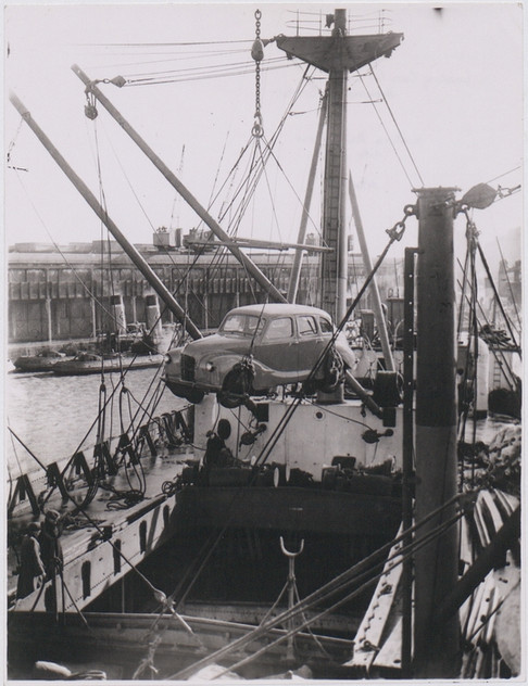 A Car Being Loaded
