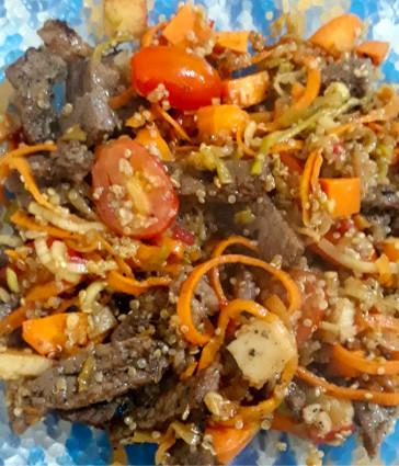Picadinho de Filé com Quinoa
