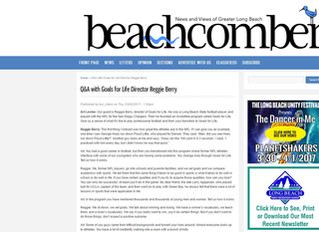 Reggie Berry Interviewed for Long Beach Beachcomber