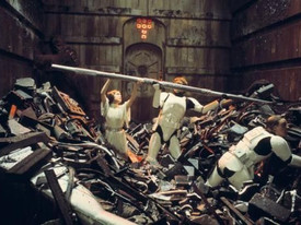 The Trash Compactor Scene in Star Wars