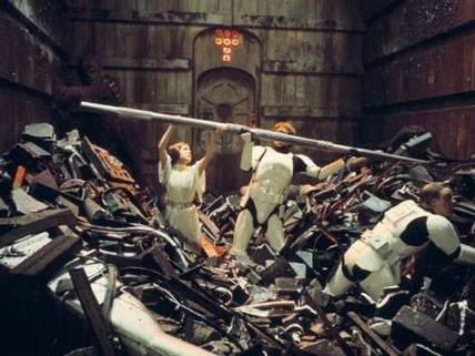 The Trash Compactor Scene in Star Wars