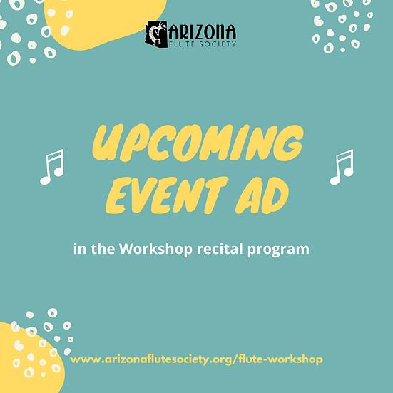 2021 Workshop Program Ad | Upcoming Event