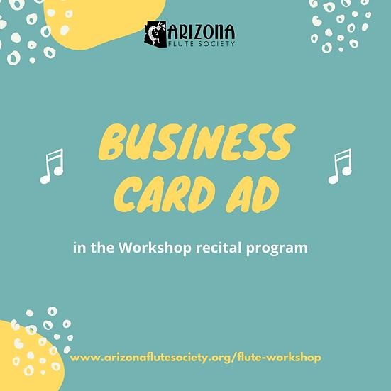 2021 Workshop Program Ad   Business Card