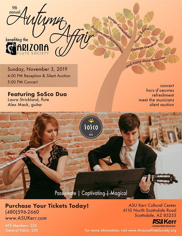 Autumn Affair Flyer 2019