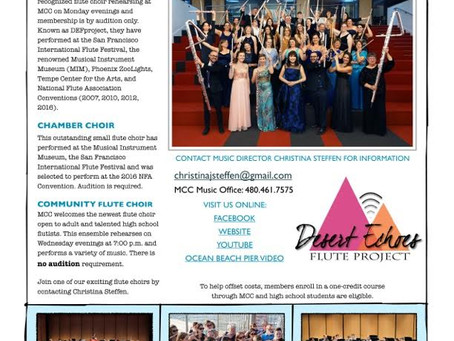 Join Desert Echoes Flute Project or the MCC Community Flute Choir
