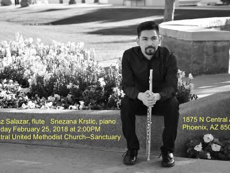 Don't Miss Chaz Salazar's Recital on February 25