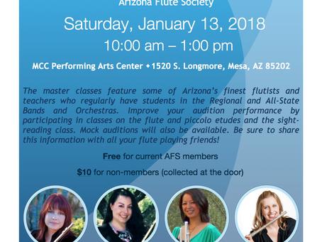 THIS Saturday - Flute Regional Etude Master Class
