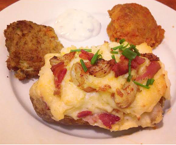 Recipe: Twice Baked Potatoes With Shrimp & Bacon