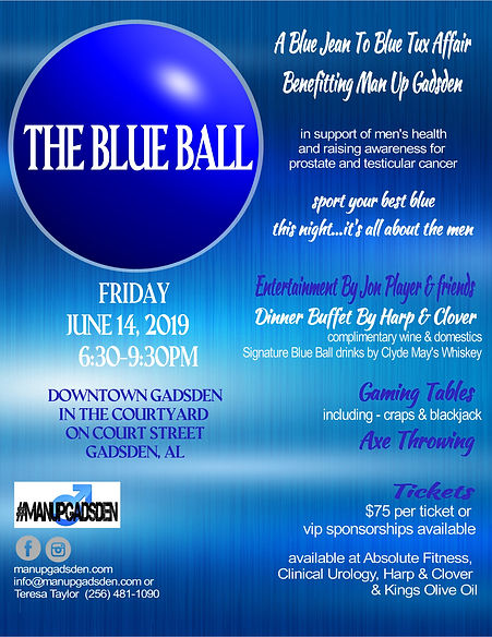 The Blue Ball Event Flyer for 2020. post