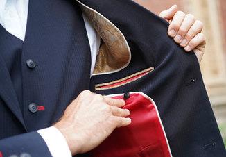 Jacket with elegant inside design