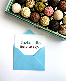 """""""Just a little note to say... """" Card"""