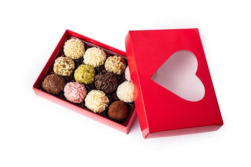 Box of 12 brigadeiros - Heart/Valentine's Day